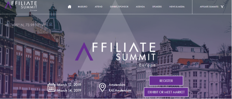 Affiliate Summit Europe Event 2019