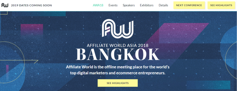 Affiliate World Asia Event 2019