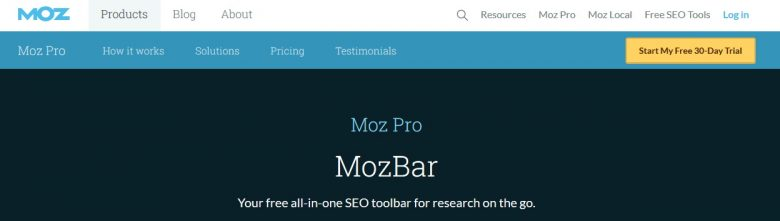 MOZ Bar Browser Extension